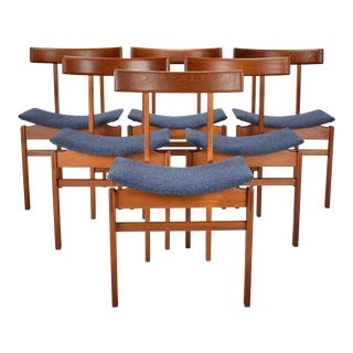 1960s Vintage Inger Klingenberg Danish Modern Dining Chairs - Set of 6 For Sale