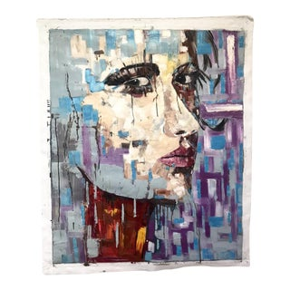 Oil on Canvas Painting of Face