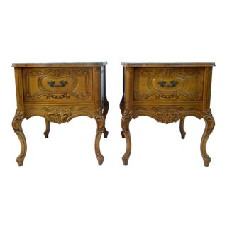 Vintage Carved End Tables - A Pair