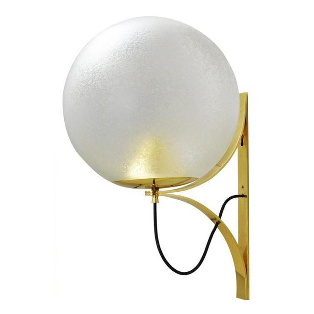 Italian Five Large Globe Sconces by Seguso For Sale - Image 3 of 12
