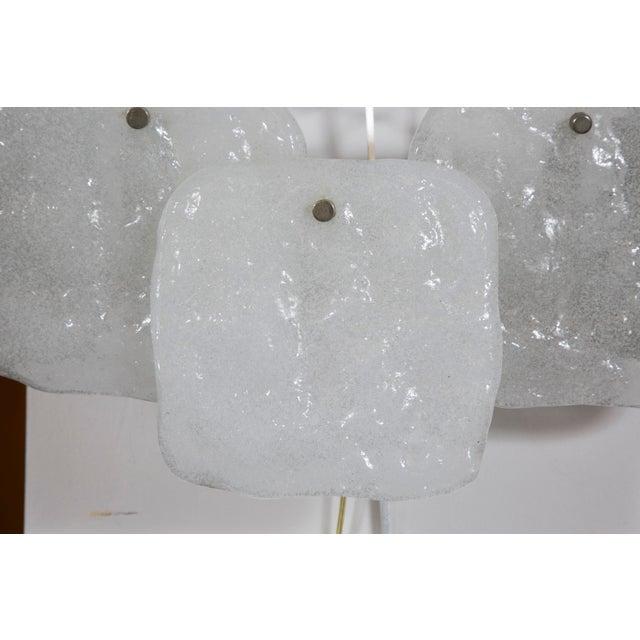 Kalmar Kalmar Three Panel Ice Glass Sconce For Sale - Image 4 of 5