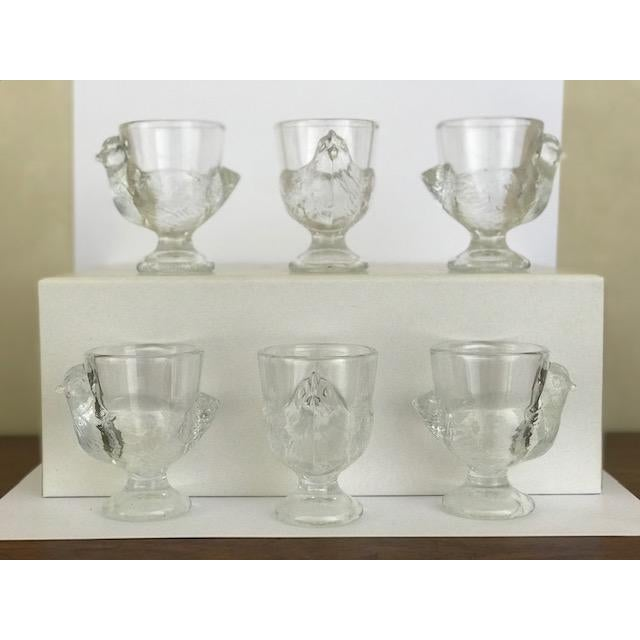 Glass Late 20th Century Vintage French Egg Cups - Set of 6 For Sale - Image 7 of 7