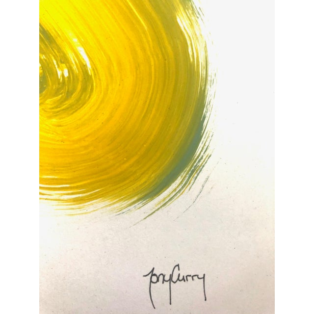 Artist: Tony Curry Modern Abstract Painting Hand Signed Original Painting on Professional Fine Art Paper Painting Size:...