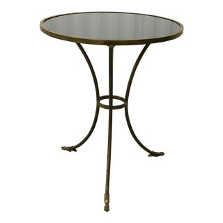 20th Century Traditional French Brass/Iron Jansen Style Gueridon Table