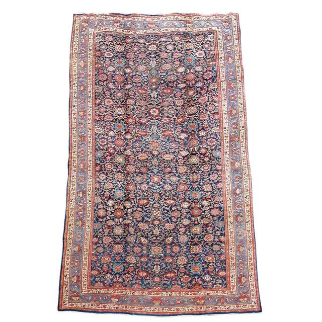 Orange & Violet Hamadan Carpet - 13′5″ × 20′5″ For Sale