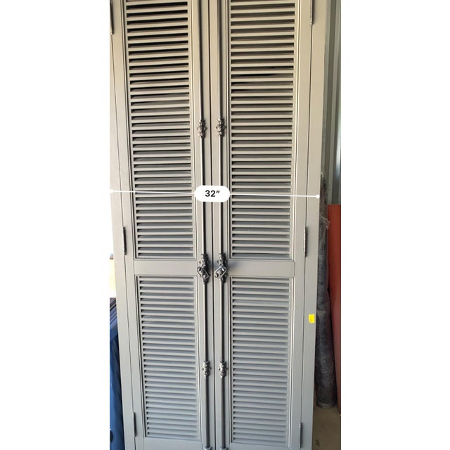 Restoration Hardware Restoration Hardware French Casement Cabinet For Sale - Image 4 of 8