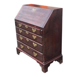 Antique 19th Century Diminutive Mahogany Chippendale Slant Top Desk C1850 For Sale