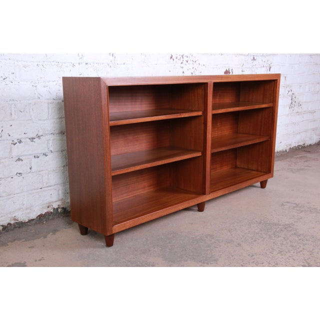 Dunbar Furniture Edward Wormley for Dunbar Mahogany Double Bookcase For Sale - Image 4 of 11