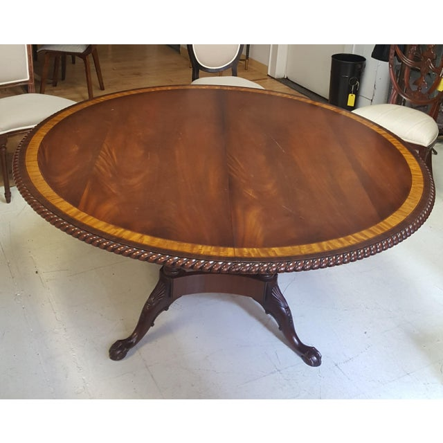 Traditional Millender Round Mahogany Dining Table For Sale - Image 13 of 13