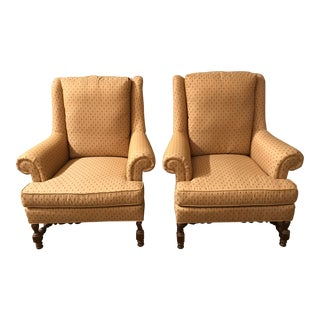 Replica Jacobean Lounge Armchairs - A Pair For Sale