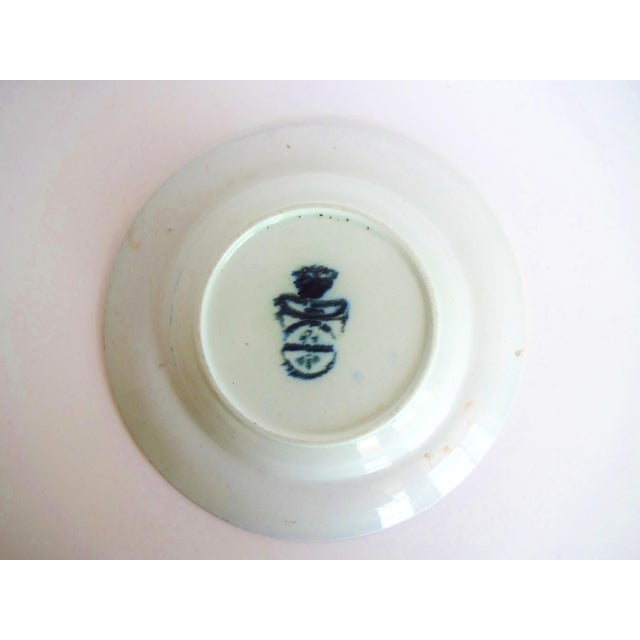 Early 19th Century Antique Mason's Staffordshire Flow Blue Dish For Sale - Image 9 of 10