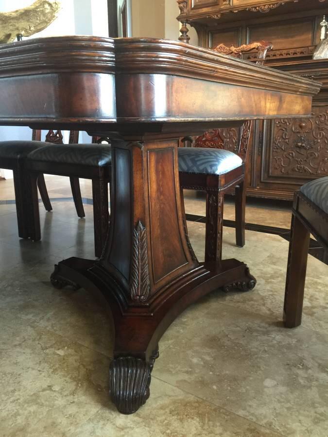 Jonathan Charles Jonathan Charles Buckingham Antique Mahogany Dining Table  U0026 Chairs Set For Sale   Image