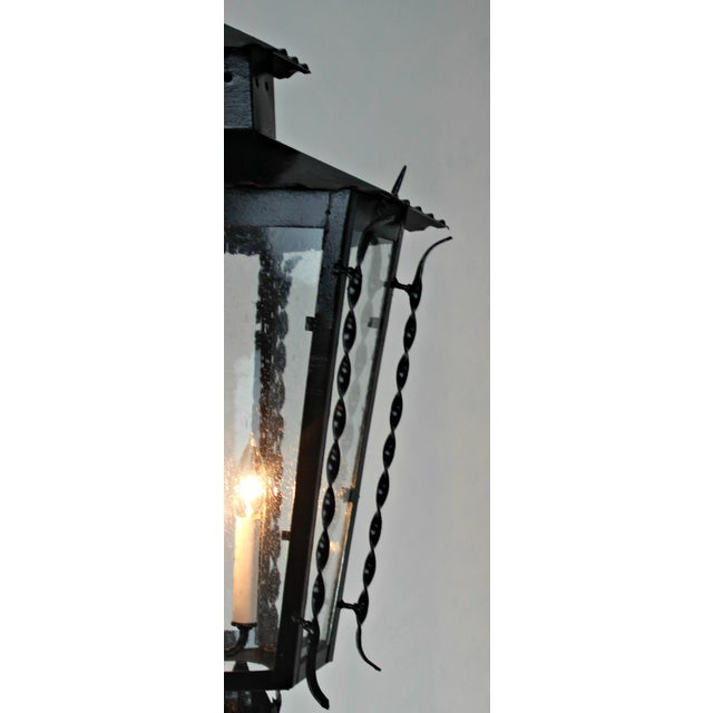 Vintage Handmade Iron Lantern For Sale In West Palm - Image 6 of 8
