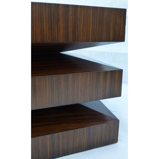Danish Modern Cubist Stacked Rosewood End Tables- A Pair - Image 6 of 11