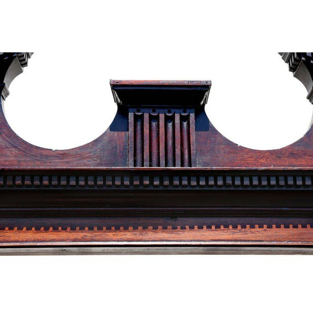 English Traditional George III Mahogany Breakfront Open Bookcase For Sale - Image 3 of 7