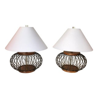 Vine Branches Form Table Lamps - a Pair
