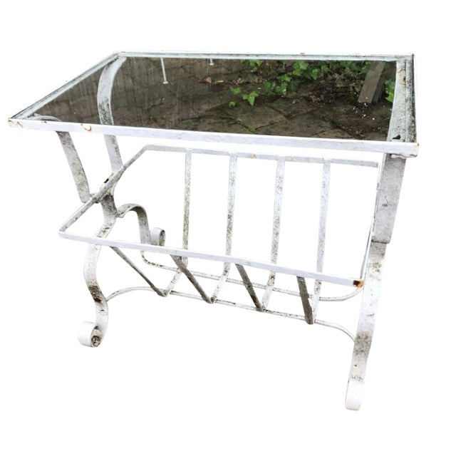 Salterini Style Outdoor Wrought Iron Side Table - Image 1 of 9