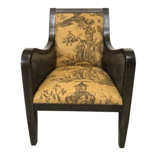 Leather Chinoiserie Chair
