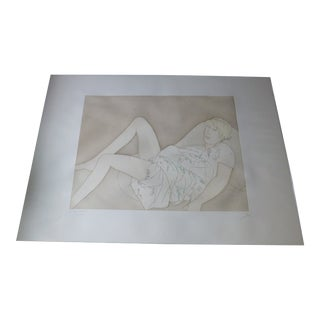 Giacomo Manzu Stamperia 2 Rc Ragazza Distesa Etching and Aquatint 1980 For Sale