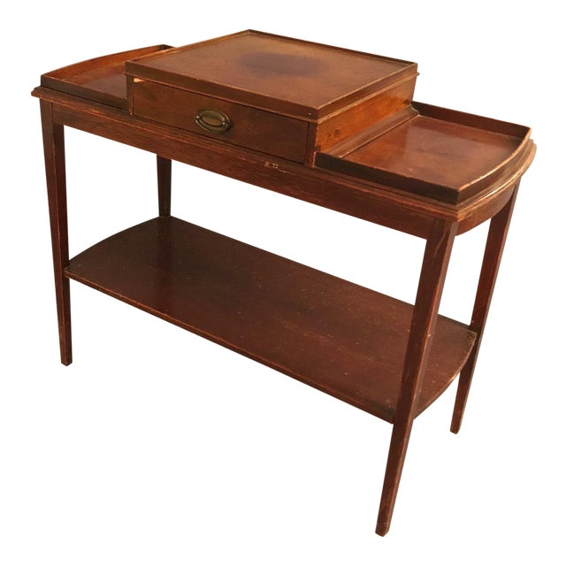 Mid-Century Console Table With a Drawer | Chairish
