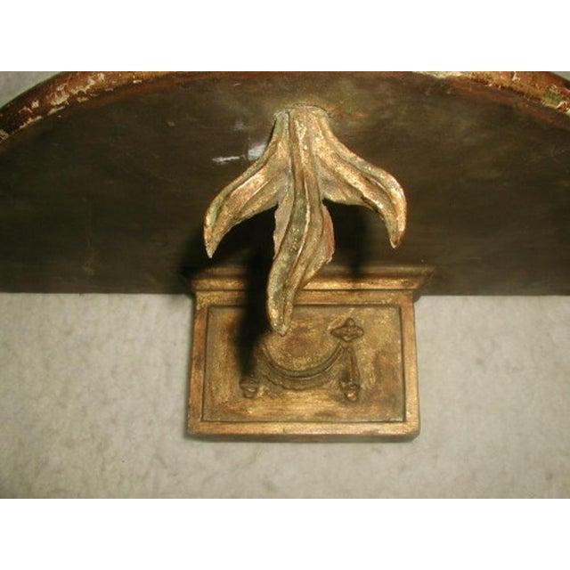 Italian Console Shelf 19th Century Original Gilt - Image 3 of 6