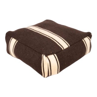 Vintage Anatolian Striped Floor Cushion For Sale