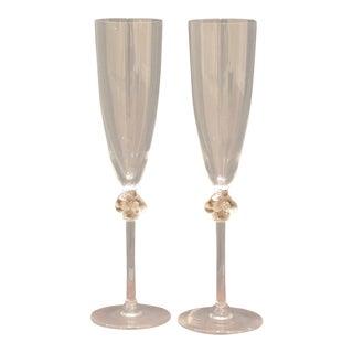 Lalique Roxane Champagne Flutes - Set of 2