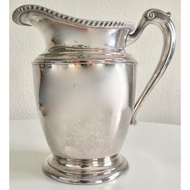English Traditional Antique English Silver Water Pitcher For Sale - Image 3 of 10