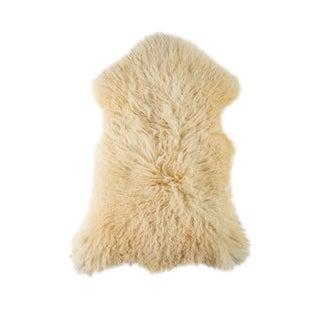 """Modern Natural Sheepskin Pelt - 2'0""""x3'3"""" For Sale"""