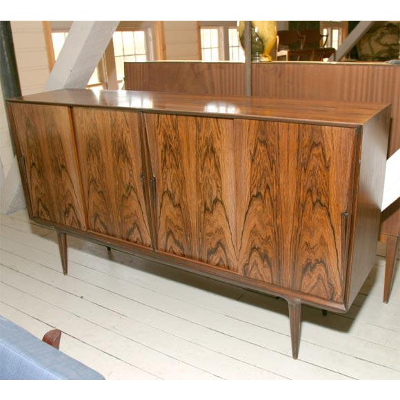 Danish Modern Rosewood Credenza For Sale - Image 5 of 7