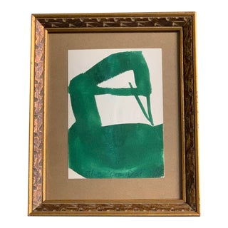 "Vintage Original Robert Cooke Painting ""Green Duck"" For Sale"