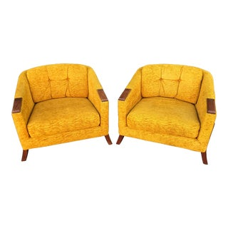 Mid Century Lounge Chairs by Chelmode Furniture - A Pair For Sale