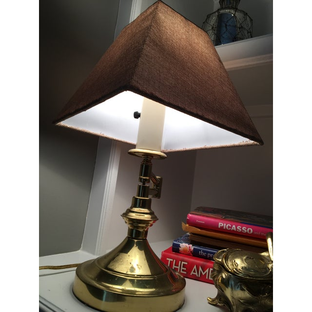 Vintage Mid-Century Swing Arm Brass Accent Lamp - Image 4 of 7