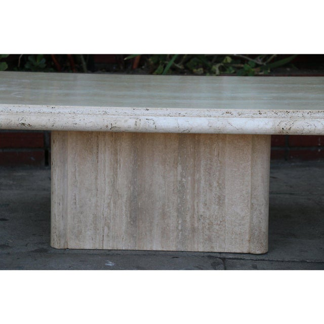 Mid 20th Century Vintage Mid Century Travertine Coffee Table For Sale - Image 5 of 9