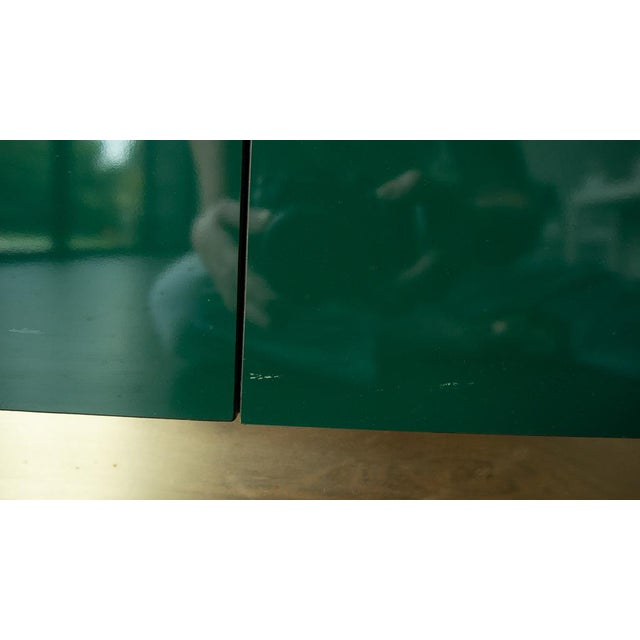 1960's Hollywood Regency Emerald Green Laminate Credenza For Sale - Image 10 of 13