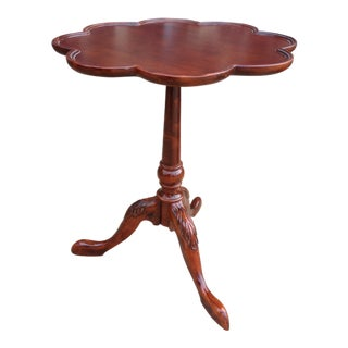 Mahogany Bombay Pie Crust Plantation Side Table