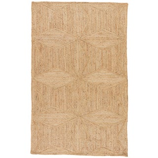 Jaipur Living Abel Natural Geometric Beige Area Rug - 9′ × 12′ For Sale