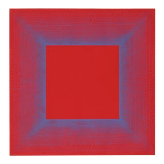 "Richard Anuszkiewicz, ""Summer Suite"" (Red & Blue), Op Art Etching For Sale"