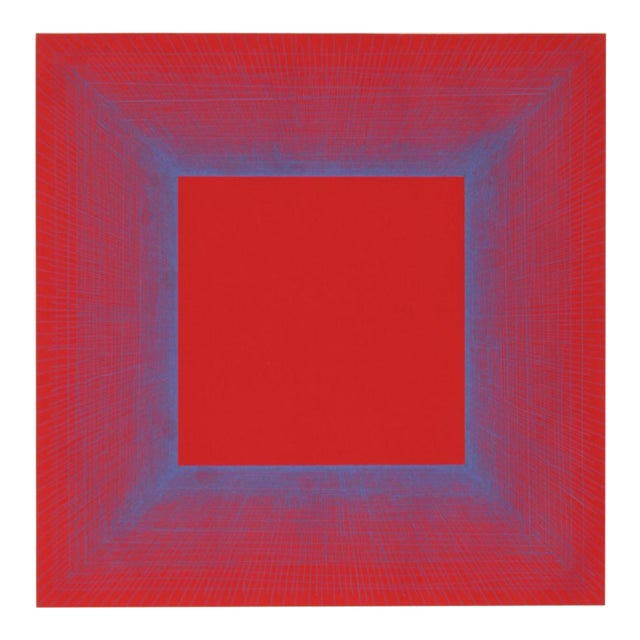 "Richard Anuszkiewicz, ""Summer Suite"" (Red & Blue), Op Art Etching For Sale"