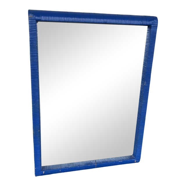 Carolina Mirror Co. Blue Wall Mirror For Sale