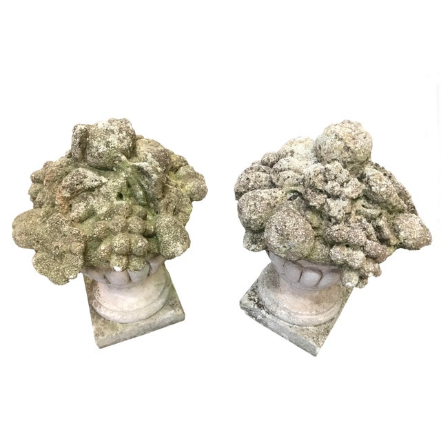French 19th Century French Cement Fruit Finials - a Pair For Sale - Image 3 of 4