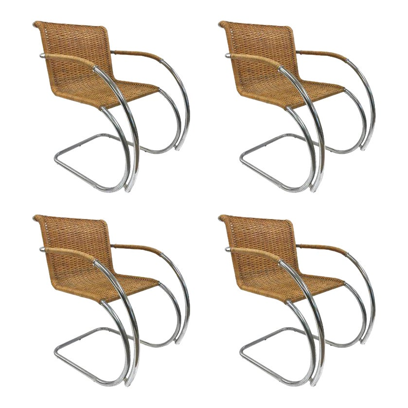 Excellent Set Of Four Ludwig Mies Van Der Rohe Mr20 Chairs