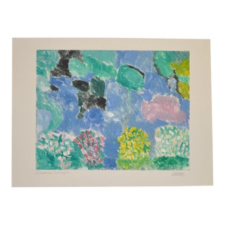 "Arthur Krakower (1921-2009) ""Snowmass 3"" Original Monotype C.2004 For Sale"