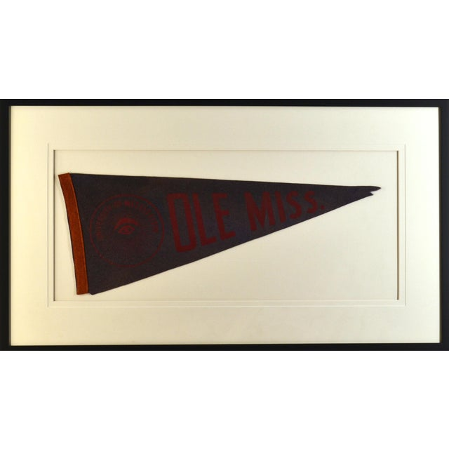 1950s Americana Ole Miss University Pennant For Sale