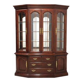 Thomasville Collectors Cherry China Cabinet For Sale