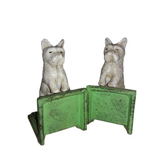 White Scottie Dog Cast Iron Bookends - a Pair Preview