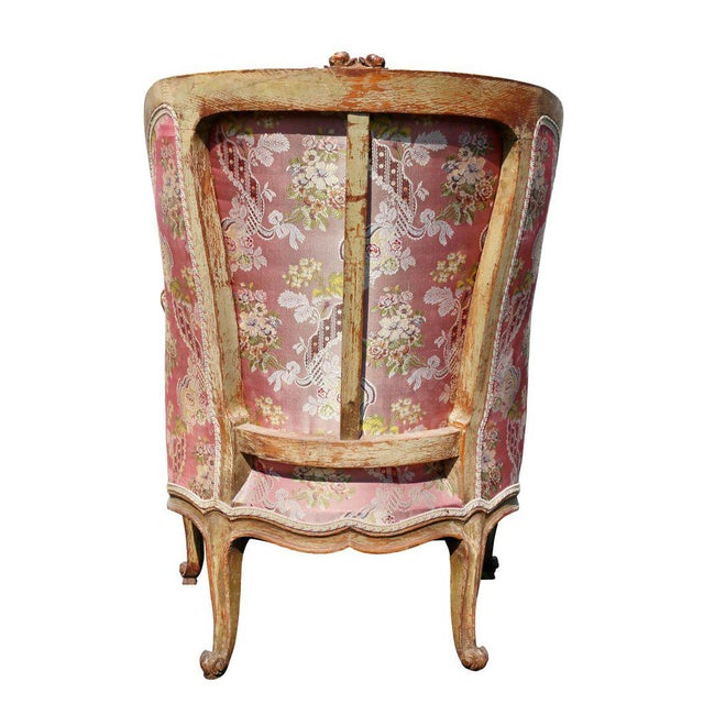 Louis XV Style Walnut and Painted Bergere Chair - Image 9 of 10