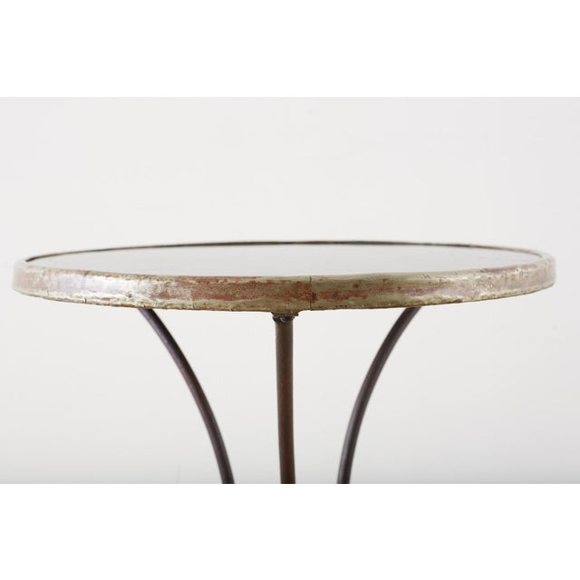 French Belle Époque Iron and Marble Bistro Cafe Table For Sale - Image 9 of 13