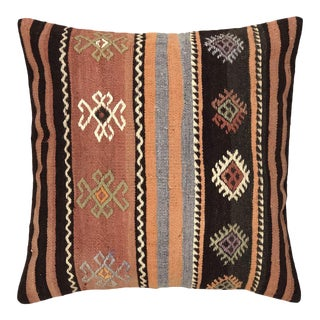 """Muted Stripe Vintage Kilim Pillow 