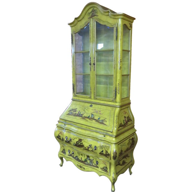 Chinoiserie Bombay Secretary Desk For Sale
